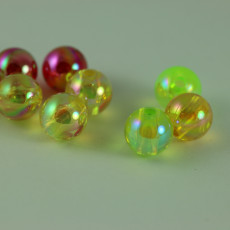 PERLES FLUO ASSORTIES 8 MM