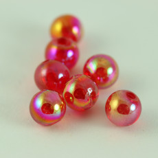 PERLES FLUO ROUGE 6 MM